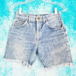 VTG 80s Lee High Waisted Cut Off Denim Jean Shorts